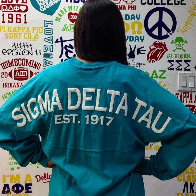 3a3f0bd7732 Iconosquare - Instagram   Facebook Analytics and Management Platform. Sigma  Delta Tau Spirit Football Jersey  sorority  clothing ...