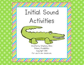 Initial Sounds & Letter Identification Activities (Beginning Sounds)