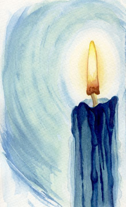 Candle - Watercolor