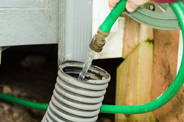 How To Unclog Underground Rain Gutter Drain Piping Hunker Rain Gutters Clogged Gutter Unclog Drain