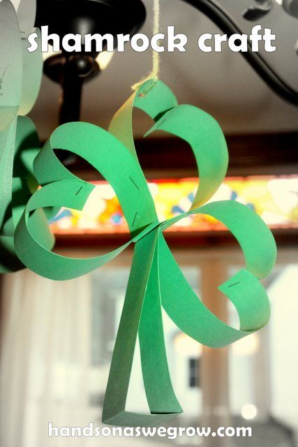 Hanging Shamrock Kids Craft - 3 hearts!