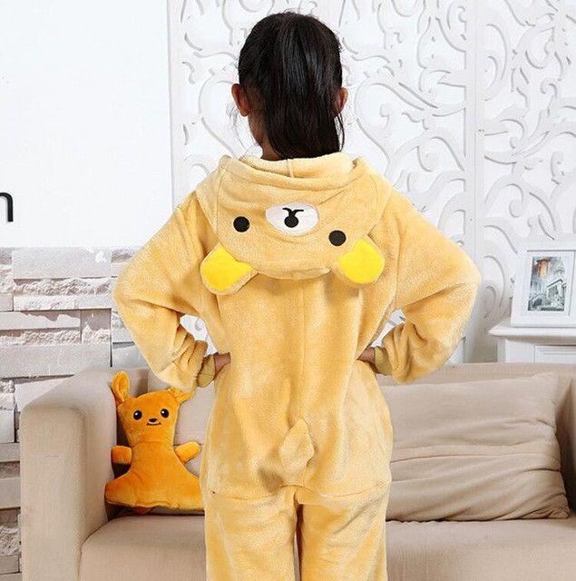 Kids Fleece Stitch Spider-Man Tiger Pikachu Pajamas Kigurumi Unisex Cosplay Animal Costume Onesie Sleepwear