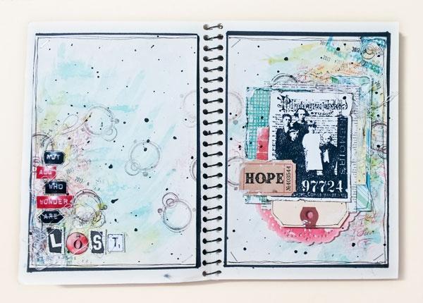 Hope #artjournal #mixmedia #artbook #scrapbook #watercolor