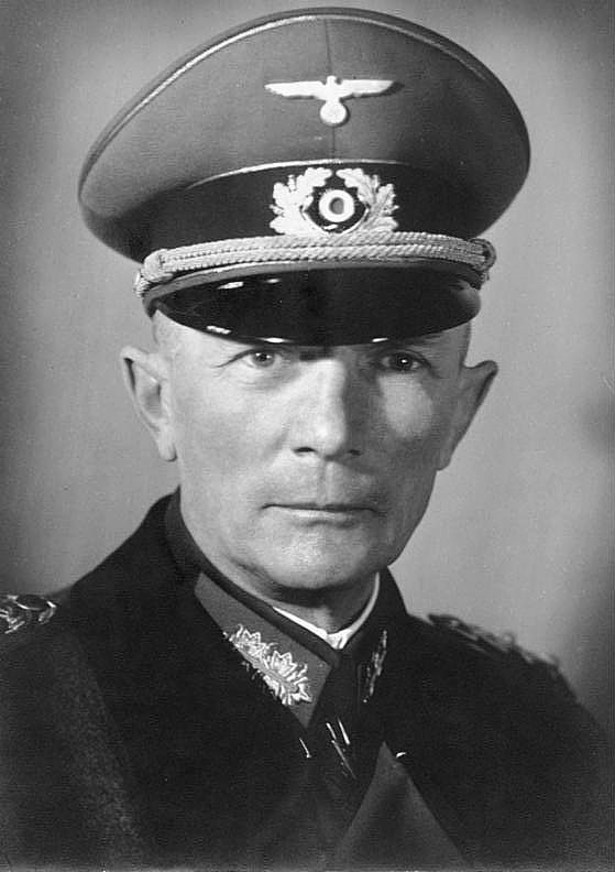 Field Marshal Fedor von Bock (1880-1945) commanded army groups during the invasions of Poland, France, and the Soviet Union, as well as the attempt to capture Moscow. Bock preferred an early withdrawal, but the Soviet counterattack drove the Germans into retreat, and Hitler relieved him of command. He personally despised Nazism, though he did not join plots to overthrow Hitler, nor did he file protests over the treatment of civilians by the SS. He was killed by a strafing fighter on May 4…