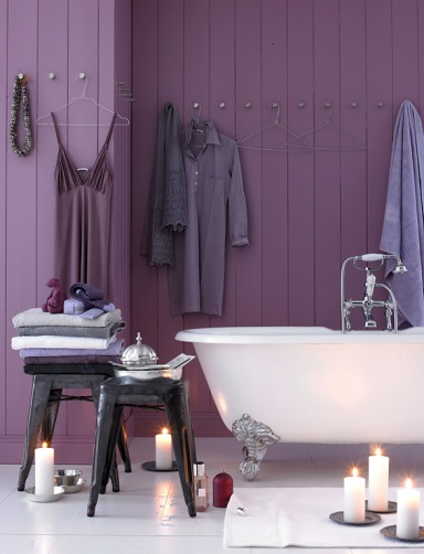Find that perfect purple for your home with Colorhouse hues AIR .07, PETAL .07, SPROUT .07 AND CREATE .06.