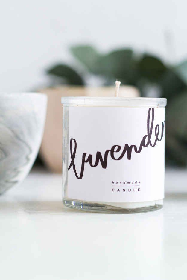 Make homemade candles that look like they came from an expensive boutique.