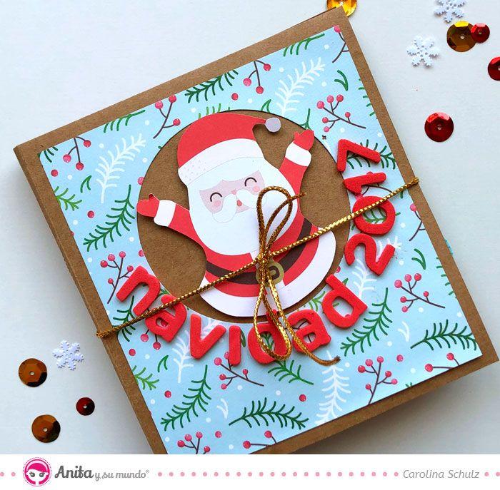 Buscas Ideas Para Hacer Tu Mini álbum De Navidad Sigue Este Tutorial De La Diseñadora De Anita Y Mini álbumes De Recortes Mini álbumes Manualidades Navideñas