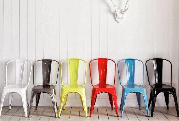 Tolix Modelo A – Xavier Pauchard  Es un icóno de la estética industrial, se utiliza en decoraciones vintage. Desde 1939 existe gracias a Xavier Pauchard. Las características principales de la silla Tolix es que es: Resistente, inoxidable y apilable, un diseño que para la época rompió paradigmas. Puedes encontrarlas en colecciones en el MOMA y el Museo Pompidou.
