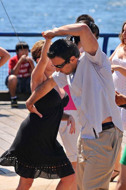 salsa...  dancing on the boardwalk...