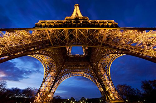 Eiffel Tower- untraditional angle