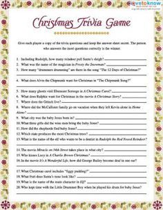 Image result for christmas trivia games printable