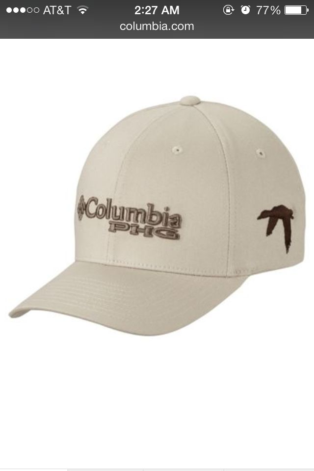 Columbia phg fitted hat with embroidered duck hats for Columbia fishing hat