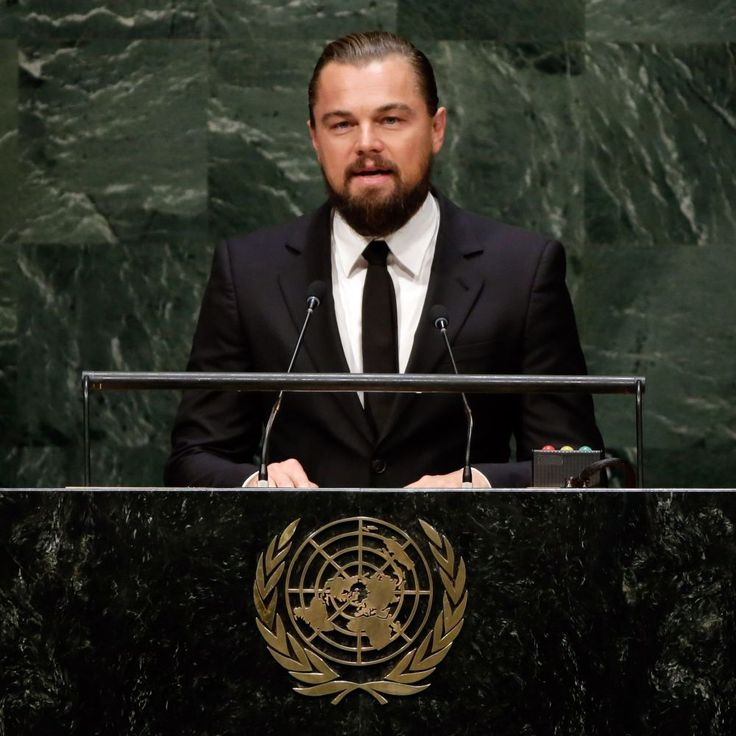 """Watch Leonardo DiCaprio's Powerful Speech on Climate Change at the UN - """"We only get one planet. Humankind must become accountable on a massive scale for the wanton destruction of our collective home. Protecting our future on this planet depends on the conscious evolution of our species."""""""