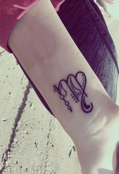 small zodiac Virgo sign tattoo #ink #girly #tattoos #YouQueen #horoscope