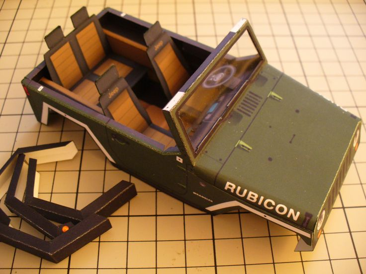 The construction of the Jeep Rubicon Open Top.: Papercruiser S Paper, Paper Craft, Rubicon Open, Jeep Rubicon, Paper Models
