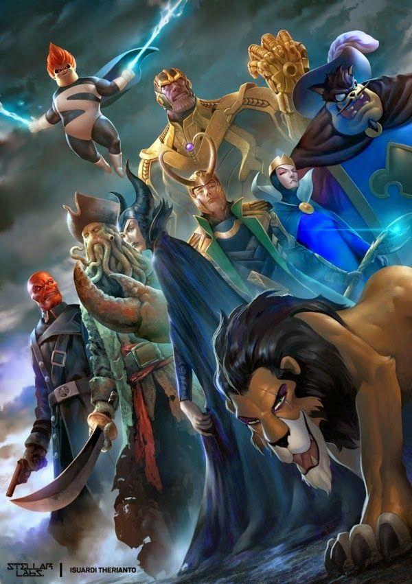Disney & Marvel Villains - Isuardi Therianto