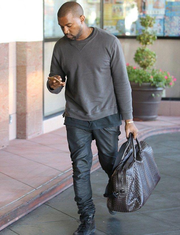 Kanye West wears Maison Martin Margiela Elbow Patch Sweatshirt | UpscaleHype