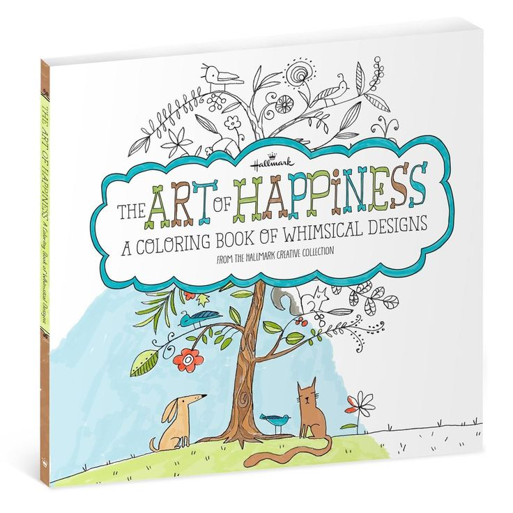 The Art Of Happiness Is A Coloring Book For Adults That Filled With Whimsical Designs