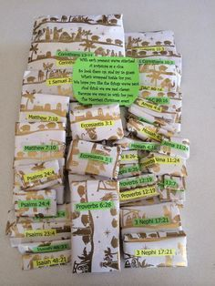 This is so cool! Scripture themed gifts!