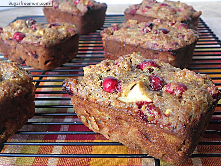 Petite Cranberry Apple Breads: [Low Sugar