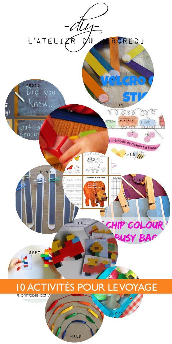 10 activités pour occuper les enfants pendant le voyage // 10 busy bags