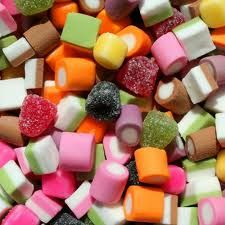 A classic retro sweet. Available here: http://www.alloccasionsweetshop.co.uk/dolly-mixtures.html