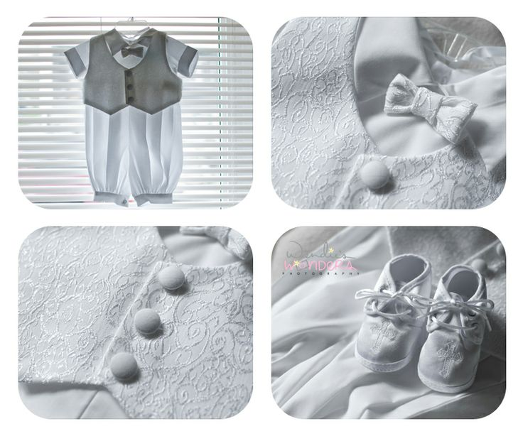 Baby boy baptism outfit.  Baptism photography.  Details!  Wendie's Wonders Photography