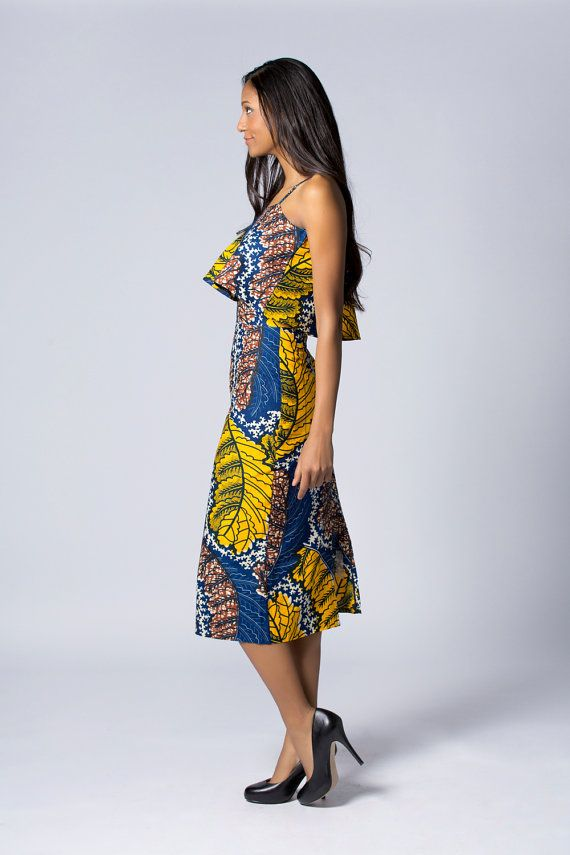 Potlood Wax print rok hoge taille rok Batik rok door COLUFashion