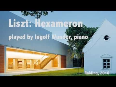 "Ingolf Wunder - F. Liszt, Hexaméron  Morceau de concert S. 392 Variations on the march from Bellini's opera ""I puritani"""