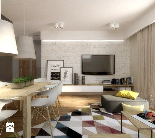 Aranżacje wnętrz - Salon: Mieszkanie na poddaszu - Mały salon z jadalnią, styl nowoczesny - SO INTERIORS Architektura Wnętrz. Przeglądaj, dodawaj i zapisuj najlepsze zdjęcia, pomysły i inspiracje designerskie. W bazie mamy już prawie milion fotografii!
