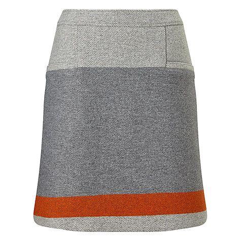 Buy BOSS Orange Bastra Stripe Detail Skirt, Grey Online at johnlewis.com