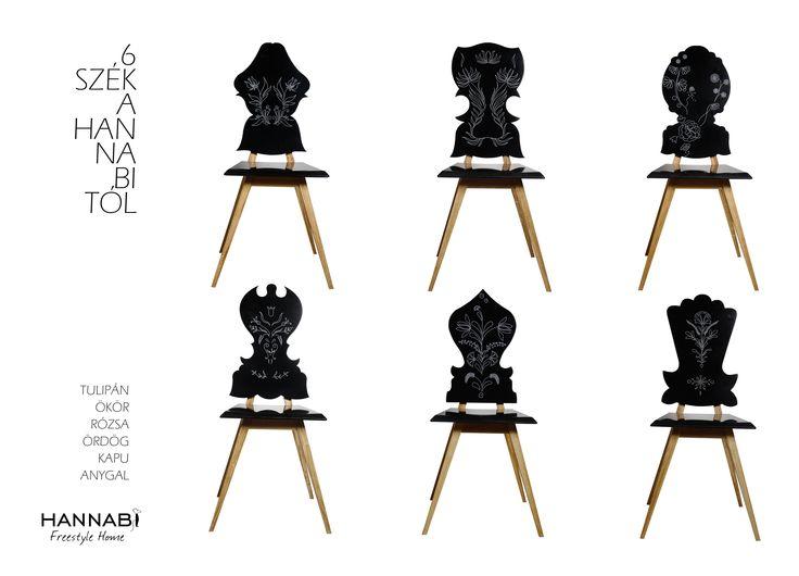 6 Chairs - Beautiful Hungarian by Hannabi / 6 szék - Gyönyörű magyar