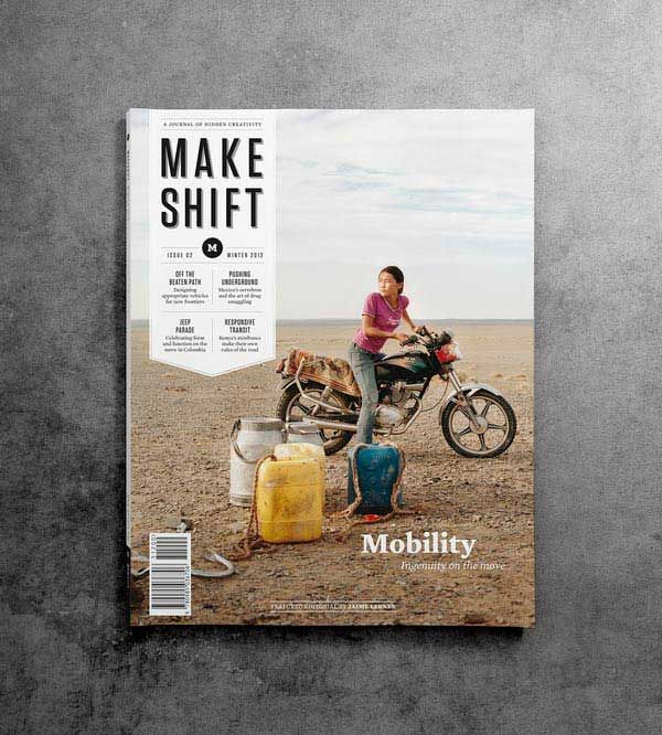 Makeshift Magazine designed by Santos Henarejos