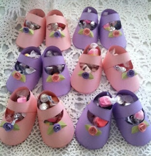 Love these cute baby shower Mary Janes I made!