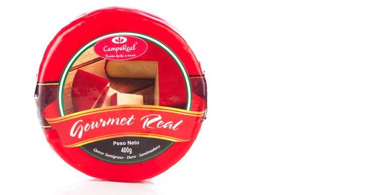 Queso Gourmet Real. Queso semimadurado, semiduro, semigraso.