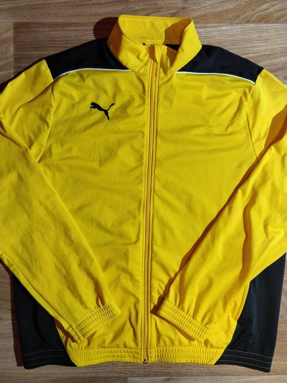 d4b87994 Puma 90's Vintage Mens Tracksuit Top Jacket Yellow Black | Mens Athletics  Clothing Adidas Originals Reebok Nike Puma Sergio Tacchini Fila | Mens  tracksuit ...