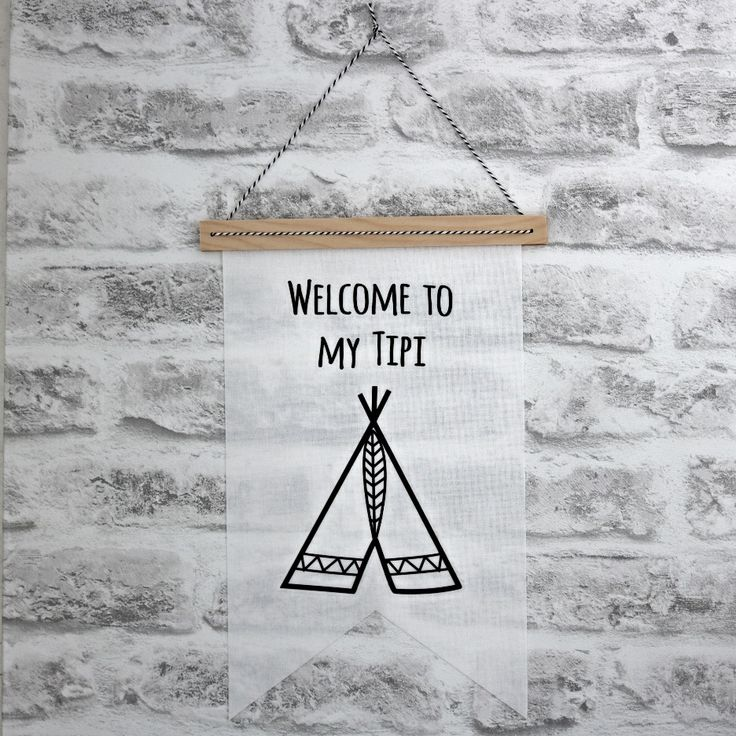 Banner Welcome To My Tipi