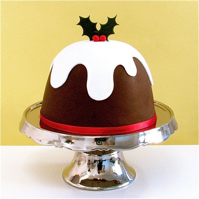 Christmas cake in the style of a Christmas pudding