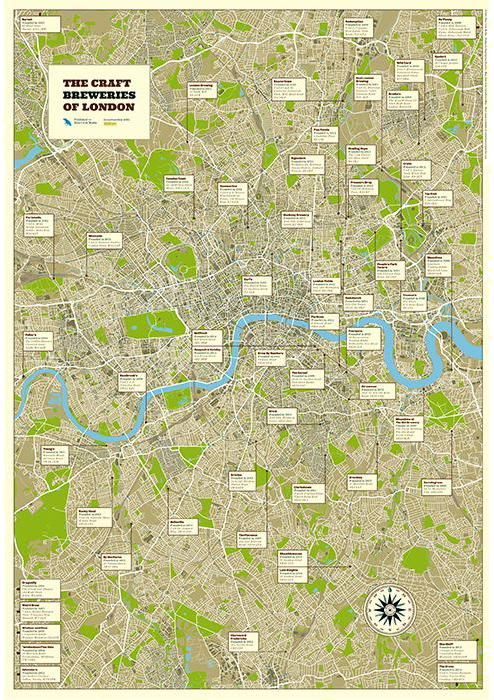 Find London's leading craft breweries in Craft Beer's dedicated wall map