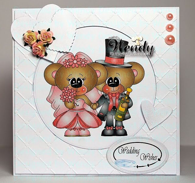 Crazy4flowers cards Digital Delights - Forever love Boo (coloured)