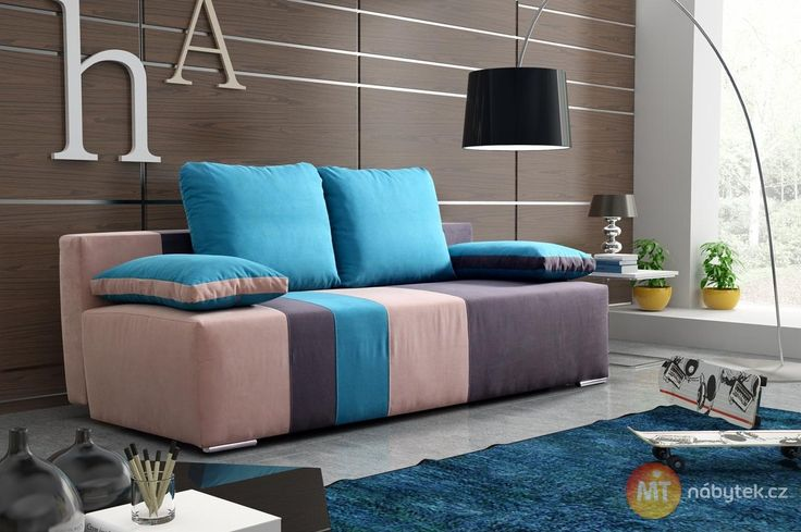 Moderní rozkládací pohovka Areta s úložným prostorem #settee #sofa #divan #couch
