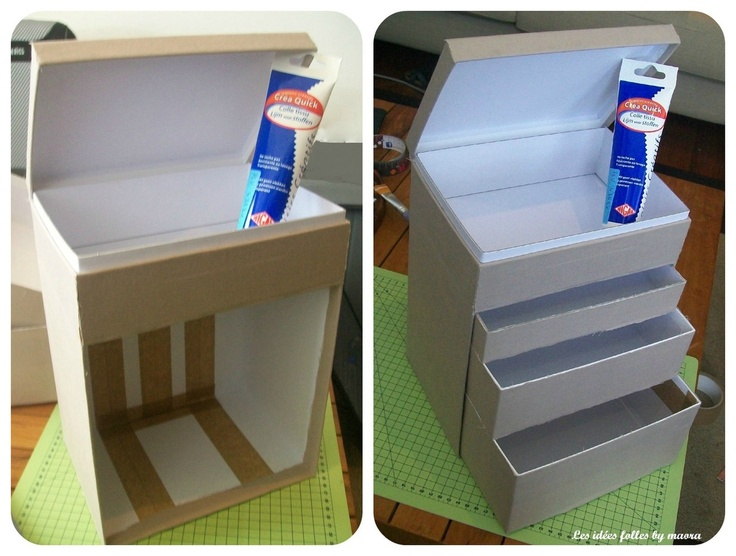 My little box maquillage repurpose and upcycle pinterest box shoebox ideas and hacks diy - Diy rangement maquillage ...