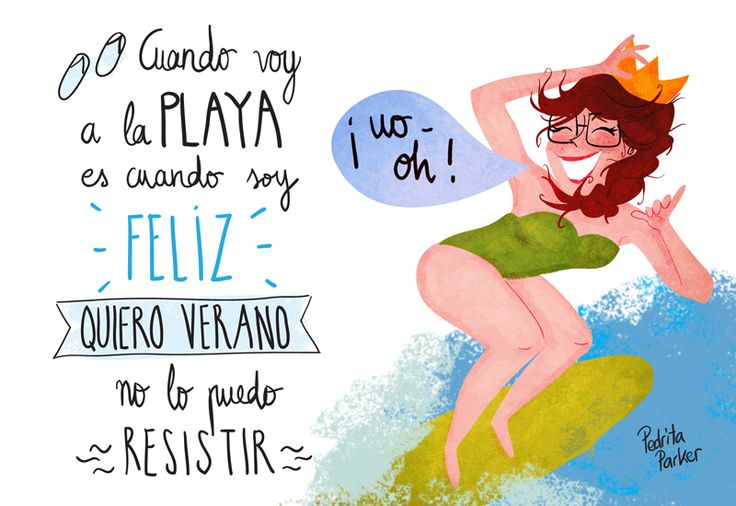 Reina Pecas canta la canción quiero verano de la banda Airbag http://youtu.be/dFrGtZ-f9So Illustration by Pedrita Parker