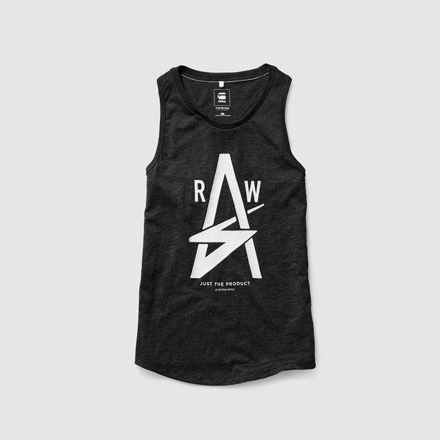 Perfect for when the sun shines, this easy tank in soft jersey features a large textured artwork.