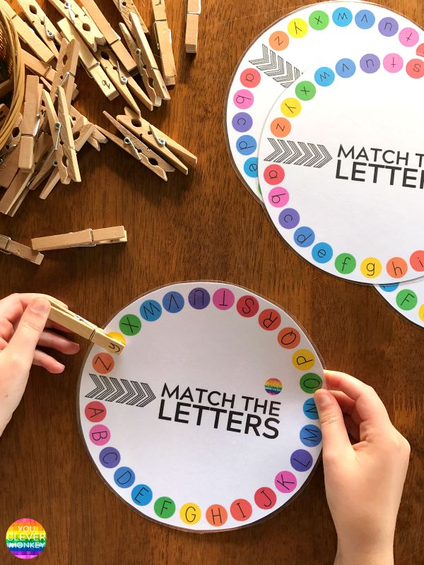 Upper and Lower Case Letter Match Printable Circles | you clever monkey