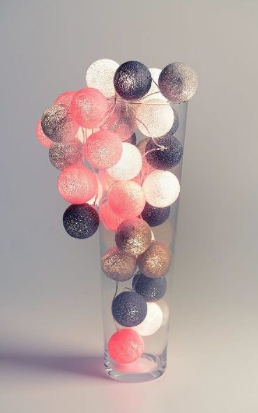 Cotton ball light Pink Grey