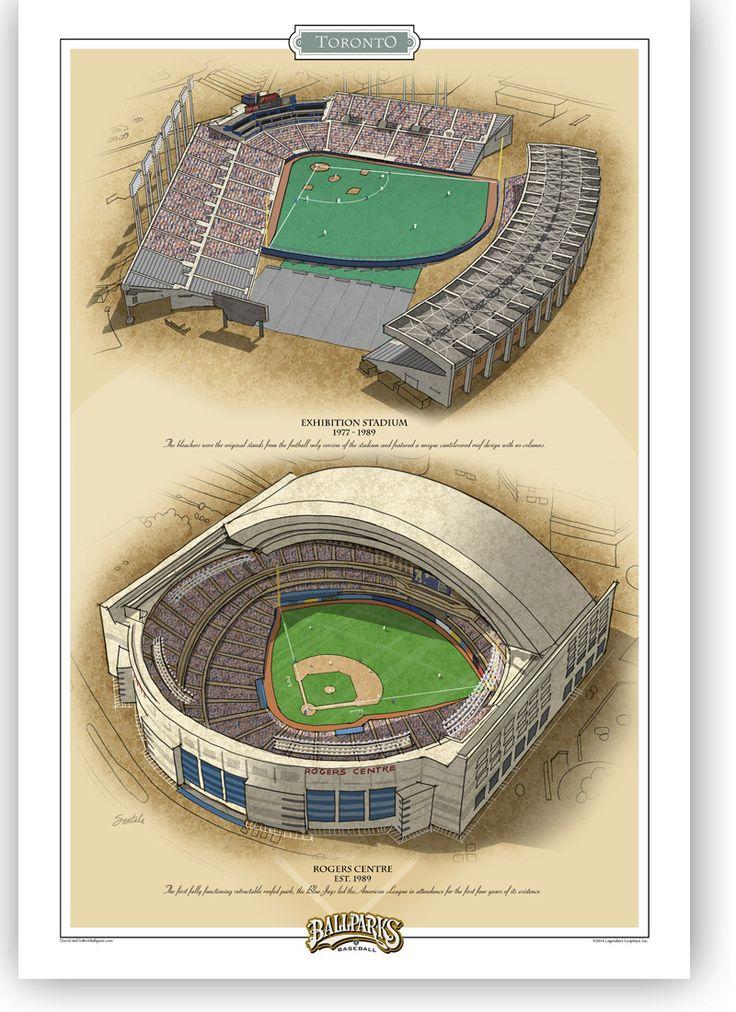Toronto 13x19 Ballparks Of Baseball There Used To Be A Ballpark Baseball Stadium Major League Baseball Stadiums Ballparks