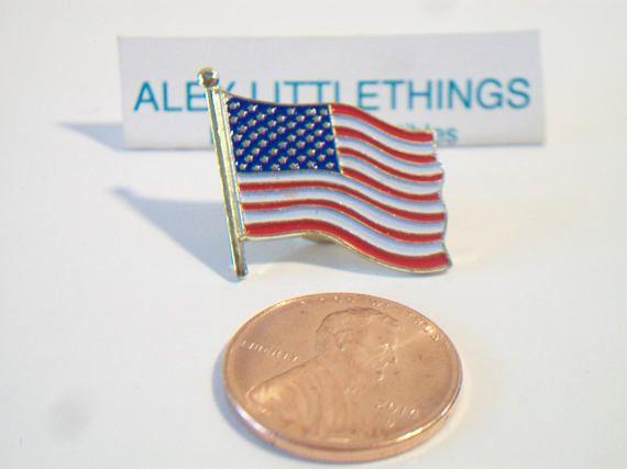 Patriotic American Flag Lapel Pin Unisex Enamel Jewelry Fourth