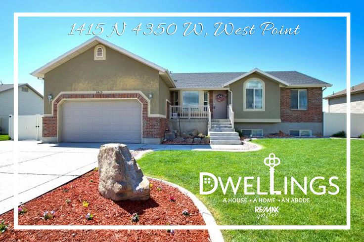 1415 N 4350 W, West Point  6 Bedrooms | 3 Bathrooms | 2,836 Sq Ft | $300,000  This West Point rambler features 100% finished walk-out basement with a mother-in-law apartment. Deck walks down to fully landscaped/fenced backyard with a fire pit for evening entertainment. Plenty of parking in 2-car garage or cement RV pad.  http://dwellingsut.com/mls/1444949/  Call or text for more info 801-541-6859.