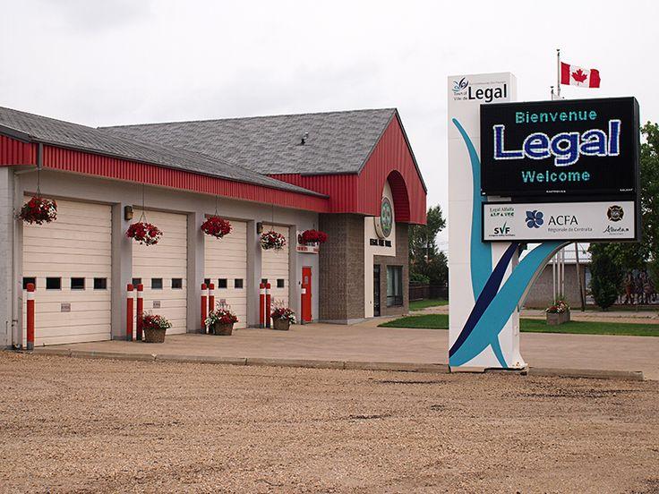 Legal Fire Hall, in Legal, Alberta.